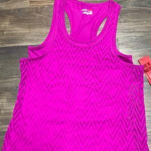 NWT Fila Layered Pink Workout Tank Size Small